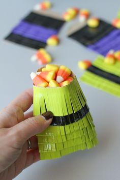 Make Duct Tape Halloween Treat Bags