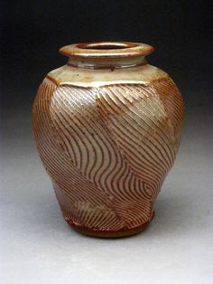 Faceted Textured Vase by jeffbrownpottery on Etsy, $45.00