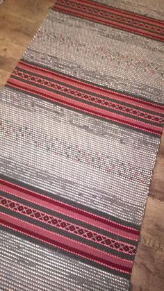 Textile Patterns, Textile Art, Loom Weaving, Hand Weaving, Weaving Textiles, Woven Rug, Scandinavian Style, Pattern Design, Carpet