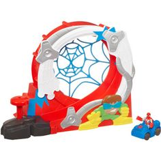 Spider-Man Adventures Playskool Heroes Stuntacular Speed Loop Set
