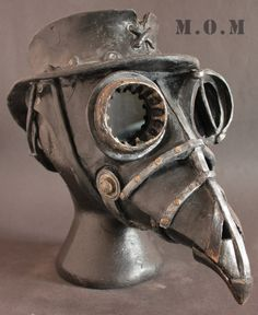 Steam Punk Plague Doctor mask and hat by Ministryofmasks on Etsy, Plague Mask, Plague Doctor Mask, Plague Dr, Steampunk Design, Steampunk Fashion, Model Tattoo, Creepy Masks, Art Nouveau, Steampunk Goggles