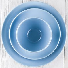 Light Blue Ceramic Alfa Dinnerware - DISHWARE - DINING + KITCHEN