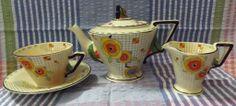 ART DECO Burleigh Ware Tea Set Circa 1930