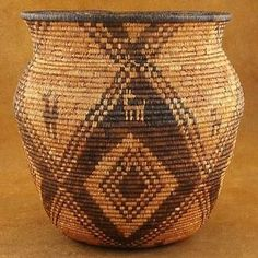 Antique 1880s 1890s Authentic Apache Indian Hand Coiled Olla Basket | eBay