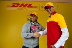 Alberto Nobis (AD DHL Express Italy) durante l'evento sul palco #yellowparade #gogreen http://www.dhllive.com/content/il-sogno-green-di-dhl