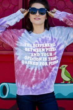 Opinion Crewneck Sweatshirt Tie Dye Available at stylerevel.com Discount Code: PartyCrasherAshley
