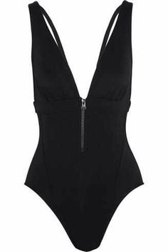 52963523dcdaa Adidas by Stella McCartney Zipped plunge swimsuit