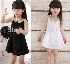 Retail /Wholesale Summer Children Clothing Baby Girls Lace Dress Sequins Collar Kids Tutu Dress Children Dress Dropshipping -in Dresses from Kids & Mothercare on Aliexpress.com | Alibaba Group