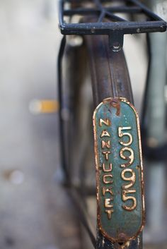 vintage bicycles all had license plates. I want one for my vintage looking bicycle