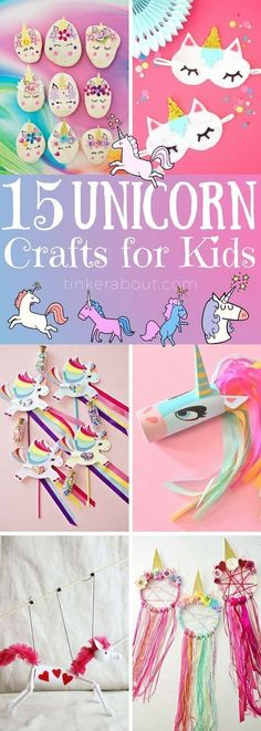 Unicorn DIY Crafts are so incredibly adorable! They are perfect for kids of all ages & easy and fun to make! Click through to see all 15 unicorn DIY crafts for kids! ⎜unicorn diy crafts birthday party, unicorn birthday party diy, unicorn crafts for kids Party Unicorn, Unicorn Birthday Parties, Diy Birthday, Crafts For Birthday Parties, Birthday Ideas For Kids, Birthday Table, Birthday Cupcakes, Birthday Presents, Crafts For Kids To Make