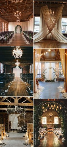 20 Timeless Indoor Wedding Ceremony Decoration Ideas - EmmaLovesWeddings chic vintage indoor wedding ceremony ideas<br> Wedding ceremony is sure to be one of the most beautiful part of your big day, when you exchange your vows and two lives become. Indoor Wedding Ceremonies, Wedding Ceremony Decorations, Wedding Venues, Wedding Lighting Indoor, Vintage Party Decorations, Indoor Ceremony, Ceremony Backdrop, Perfect Wedding, Dream Wedding