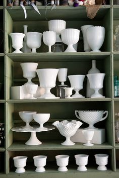 I don't collect anything. Milk glass is an exception. So perfectly elegant, classic, and functional!