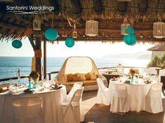 perfect beach wedding reception decor #Santorini