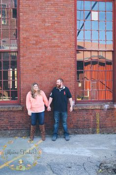 industrial engagement photo session. Portland Maine