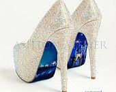 Custom hand painted Cinderella's Castle and Coach heels