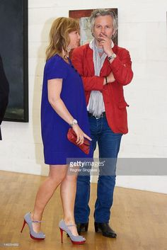 Princess Martha Louise of Norway and Ari Behn attend opening of exhibition 'Landskap og Rom' at Henie Onstad Art Centre on June 14, 2012 in Sandvika, Norway.