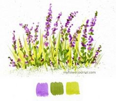 Watercolor Wildflowers painted from color swatches-myflowerjournal.com