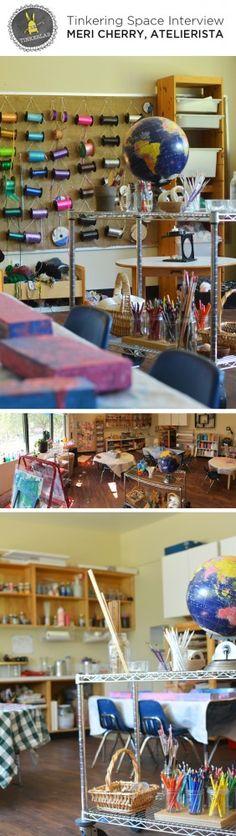 Meri Cherry's inspiring Tinkering Space in Los Angeles | TinkerLab.com