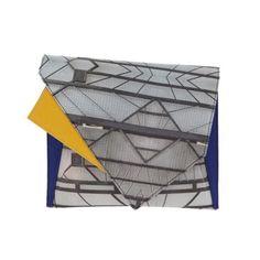 Grey Geometric Messenger Bag   Georgina Skalidi