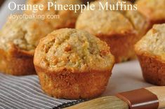 Mini orange pineapple muffins with an orange glaze -- yummy breakfast?