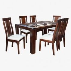 Juego Comedor Milan (Chocolate) Dinning Table Design, Glass Dining Room Table, Ali, Chocolate, Furniture, Home Decor, Dining Table Design, Modern Dining Rooms, Chairs
