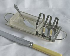 Vintage Toast Rack for Lady's Breakfast by SilverAndGreyVintage