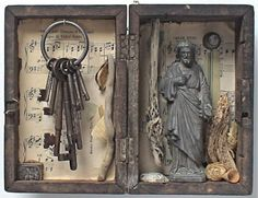 assemblage art  'gethsemane' by mylittlelovebox on Etsy, $499.00