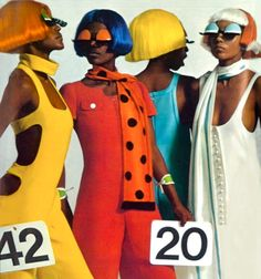1968, #Courreges || #60s #Fashion || A•