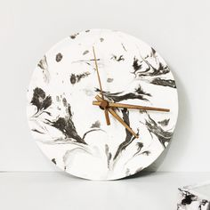 Marble clock #marble #diy #craft