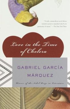 """Love in the Time of Cholera by Gabriel Garcia Marquez. This is one of Kris' favorite reads. Kris says """"this book is an 80 year love story of hope, life, tropical birds, and words to describe love"""" I Love Books, Great Books, Books To Read, My Books, This Book, Gabriel Garcia Marquez, Hundred Years Of Solitude, Book Worms, Novels"""