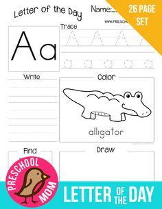 Preschool Printables Alphabet