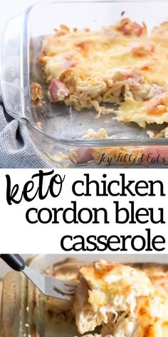 healthy dinner recipes videos This Chicken Cordon Bleu Casserole will knock your socks off. It is so much easier than a traditional rolled and breaded cordon bleu and has e Comida Keto, Bon Dessert, Keto Casserole, Casserole Recipes, Gluten Free Chicken Casserole, Loaded Cauliflower Casserole, Keto Meal Plan, Meal Prep, Keto Dinner