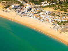 #Beach Praia da Salema, Algarve, Portugal | via http://blog.turismodoalgarve.pt
