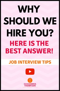"""Be prepared by knowing how to best answer the interview question """"Why should we hire you? Common Job Interview Questions, Job Interview Preparation, Interview Questions And Answers, Job Interview Tips, Job Interviews, Annoying Things People Do, Cover Letter For Internship, Job Hunting Tips, Cover Letter Tips"""