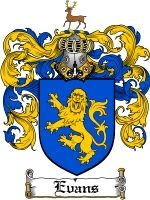 Evans Coat of Arms / Family Crest Downloadable JPG