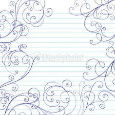 Hand-Drawn Sketchy Notebook Doodle Swirls