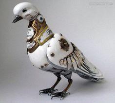bird metal sculpture by Igor Vemly.
