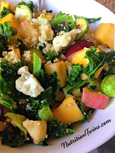 Vegan Protein-Packed Quinoa Veggie Stir-Fry   Only 300 Calories   Perfect for Meatless Monday   Great Way to Get Back on Track   Healthy, Easy Meal   For MORE RECIPES, fitness & nutrition tips please SIGN UP for our FREE NEWSLETTER www.NutritionTwins.com