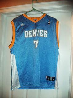 Youth Boys Blue, Gold DENVER NUGGETS NBA #7 BILLUPS Jersey, Size XL 18/20, GUC! #ADIDDASNBAJERSEY #DenverNuggets