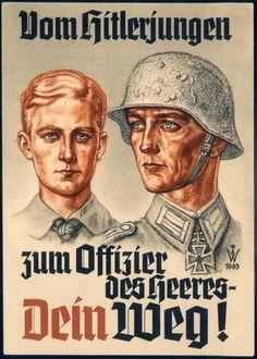 """Vom Hitlerjugen zum Offizier des Heeres- Dein Weg! - """"From Hitlerjugen officer of Heeres- Your Way!"""""""