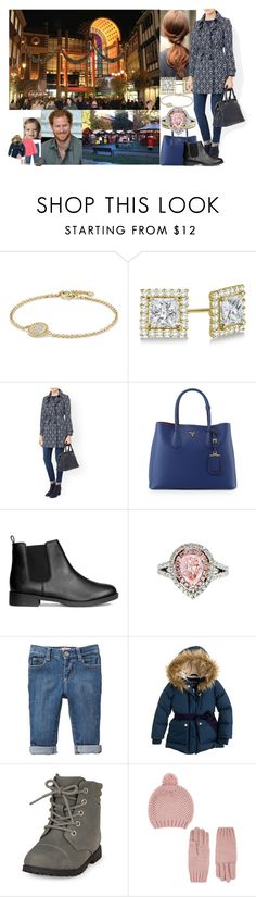 """""""Christmas Shopping at Kingston Christmas Market with Harry and Addie."""" by duchess-rebecca ❤ liked on Polyvore featuring David Yurman, Allurez, Monsoon, Briefing, Prada, Diana M. Jewels, Old Navy, Billieblush, J.Crew and Accessorize"""