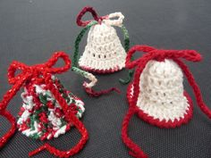 Crochet Bells with Bow and Real Bell Ten Pack by NancysCrochet, $17.00