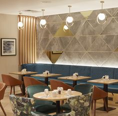 Contact us at hello@imaginlighting.com to bring your ideas to light. Our custom pendant lighting designs making a statement in a hotel restaurant in London's Angel Islington.