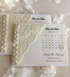 Items similar to Glitz and Glamour Vintage Lace Collection 2 - White, Ivory & Cream - Couture Wedding Invitation on Etsy Handmade Wedding Invitations, Wedding Invitation Cards, Wedding Stationery, Wedding Cards, Party Invitations, Save The Date Magnets, Save The Date Cards, Vintage Cards, Vintage Lace