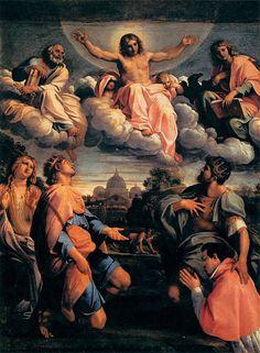 Annibale Carracci - cristo in gloria con santi ed odoardo farnese come donatore 1597