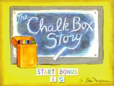 The Chalk Box Story was my favorite story as a child. Now you can get this beautiful chalk adventure on the ipad! Your child gets to color the story with chalk. It's beautiful and amazing!