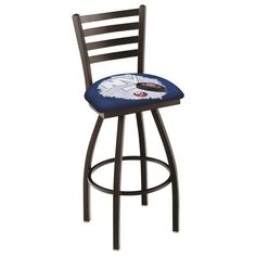 New York Islanders NHL D2 Ladder Back Bar Stool available in 25-inch and 30-inch seat heights. Visit SportsFansPlus.com for details!
