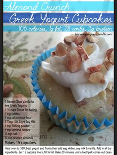 Healthy cupcake - almond crunch