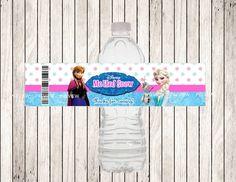 FROZEN Water Bottle Label DIY Printable File by MyDreamPartyShop