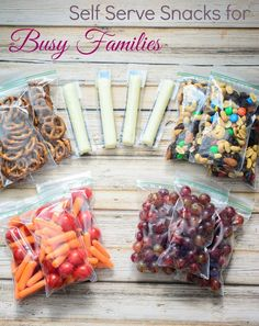 Self Serve Snacks for Busy Families- great way to teach independence and make sure your kids reach for healthy foods!